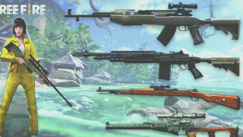 Guns & Best Skins Of 2020 Used by Pros in Free Fire