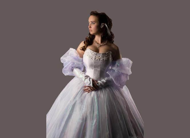 Labyrinth Sarah Ballroom Cosplay Costume for Adults